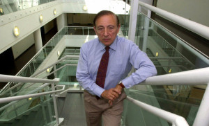 ** FILE **Director of the Institute of Human Virology, Dr. Robert Gallo, co-discoverer of the AIDS virus, poses in the Medical Biotechnology Center in Baltimore in this May 24, 2001, file photo. With HIV infections predicted to jump tenfold in China over the next five years without swift intervention, Chinese health officials plan to announce a partnership Monday, Aug. 29, 2005, with the institute covering collaboration on research and trials and technical assistance. (AP Photo/Gail Burton).