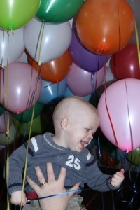 A cherished photo of Joel at his 2nd Birthday Party. Like other parents of miscarried babies, not having photos and mementos of babies they lost during pregnancy is difficult.